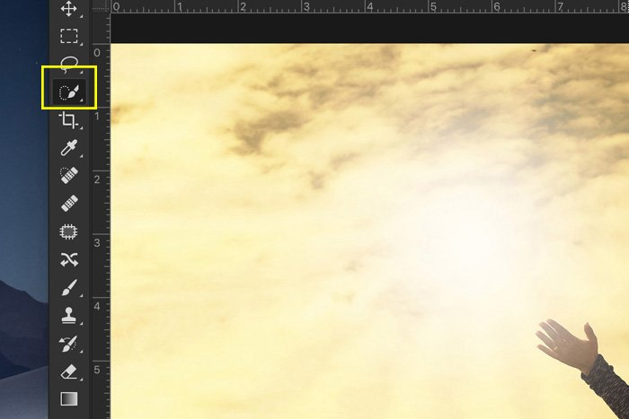 Screenshot of editing in Photoshop