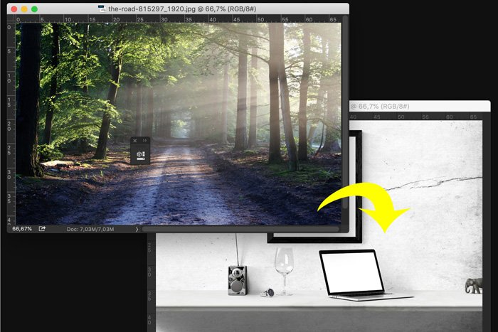 Screenshot of creating a new layer in Photoshop