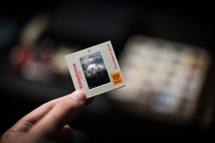 Photo of a Kodachrome film slide