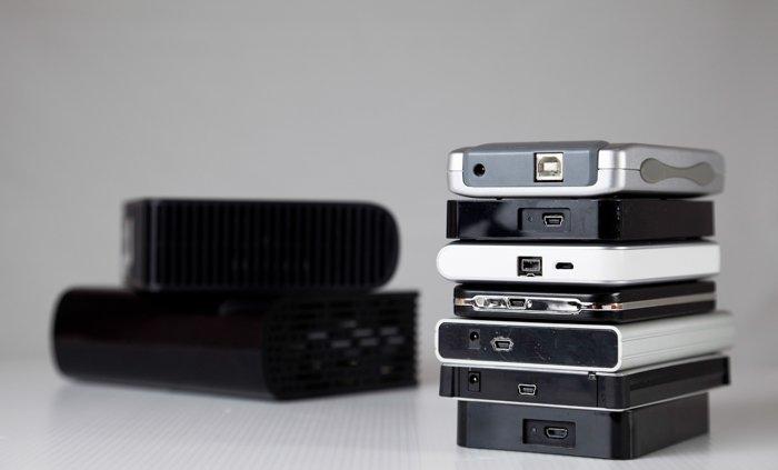 Photo of external hard drives