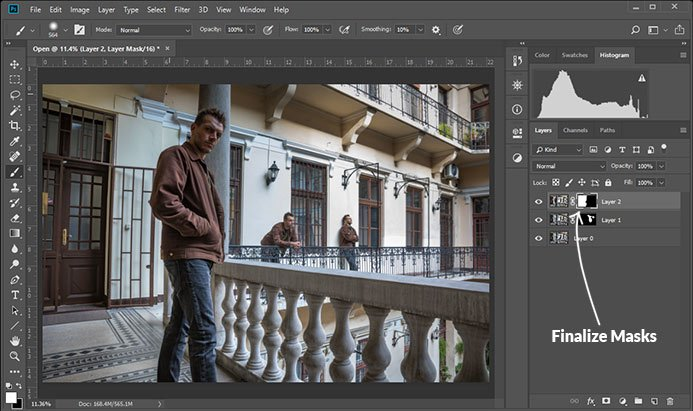 a screenshot showing how to clone yourself in photoshop