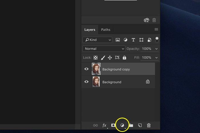Screenshot of Lightroom layers