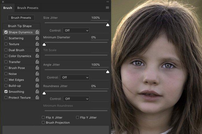 Screenshot of Lightroom brush presets