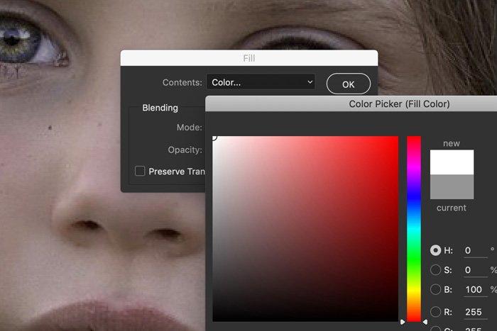 Screenshot of Lightroom color picker