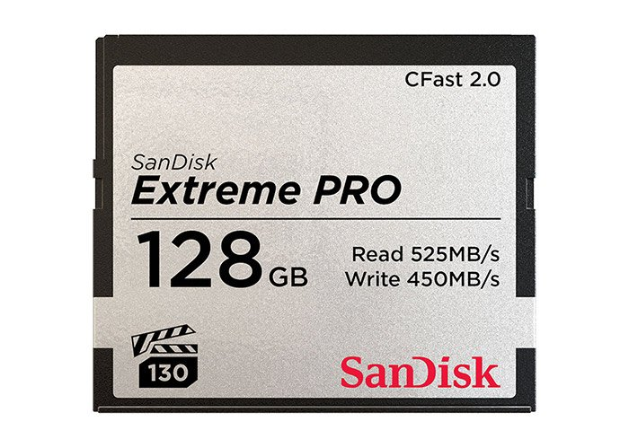 A Sandisk CFast card