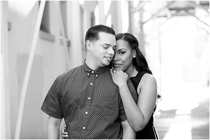 Couple photo shot in black and white