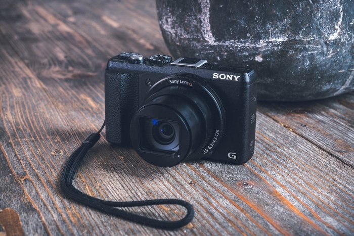 Photo of a compact Sony camera