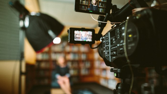 Close-up photo of a videocamera