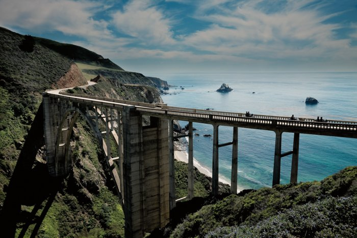 Landscape photo of a road on a seaside
