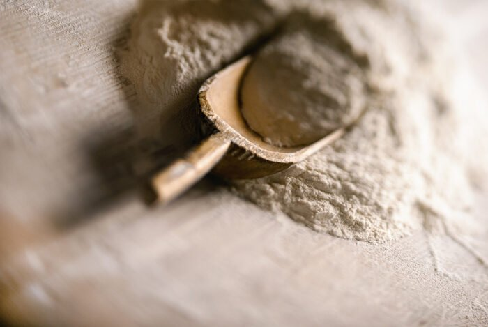 Close-up photo of flour