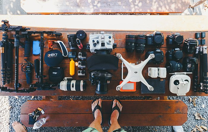 Photo of drone equipment on a table