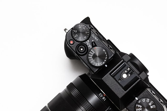 Photo of the top of a camera