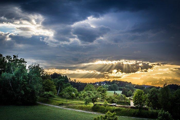 Landscape photo at sunset