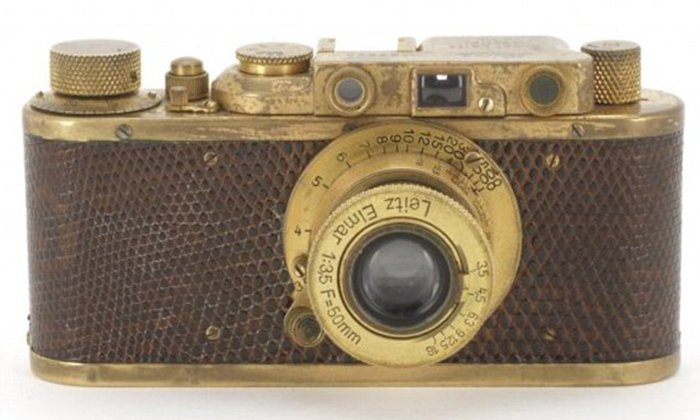 Gold-Plated Leica Luxus II camera