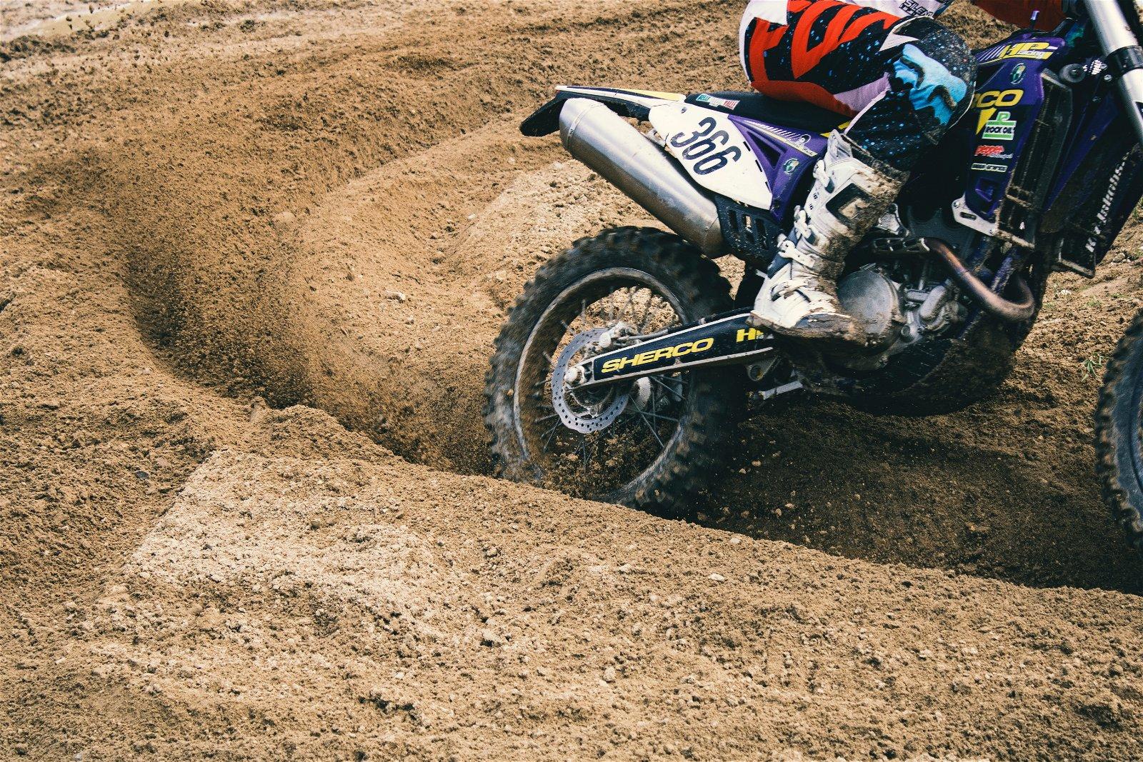 Close-up motorsport photography