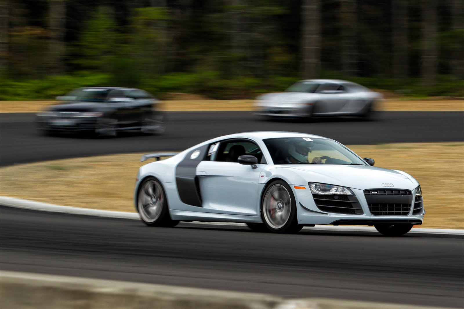 Photo of an Audi car on the road