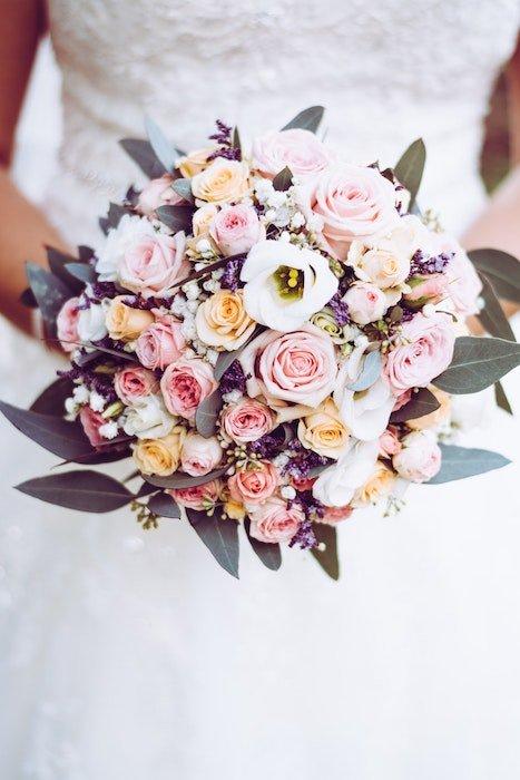 A brides floral bouquet