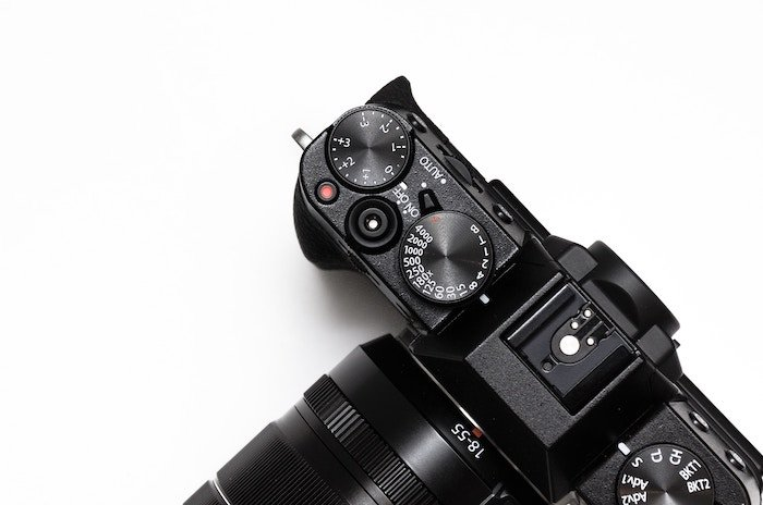 Photo of a camera from above