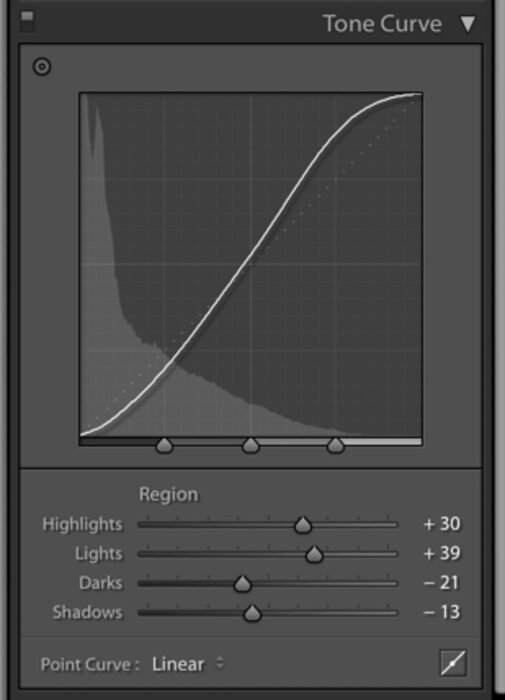 Lightroom tone curve
