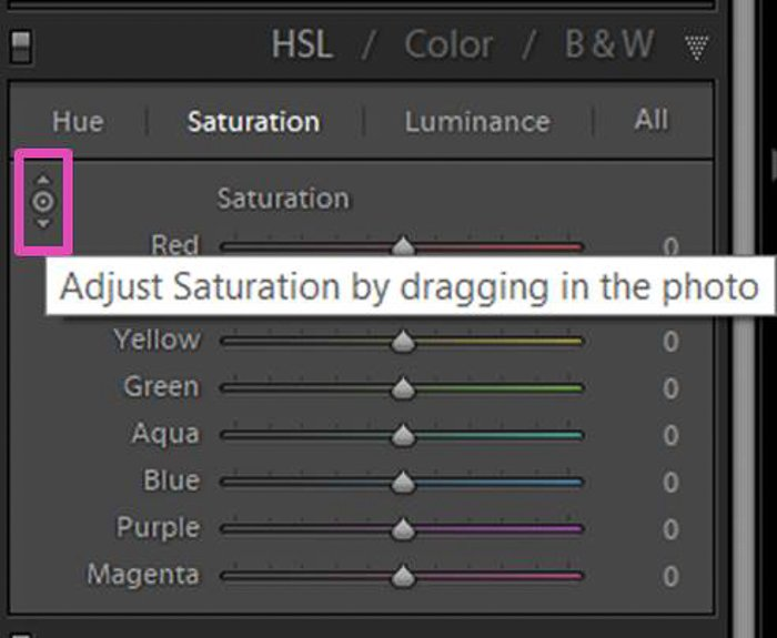 a screenshot of adjusting the white balance of a photo in Lightroom