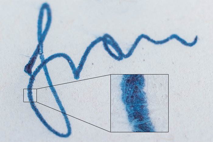 a macro photo of a section of handwriting