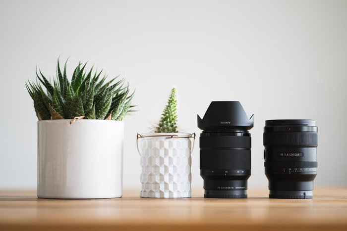 Photo of lenses on a table