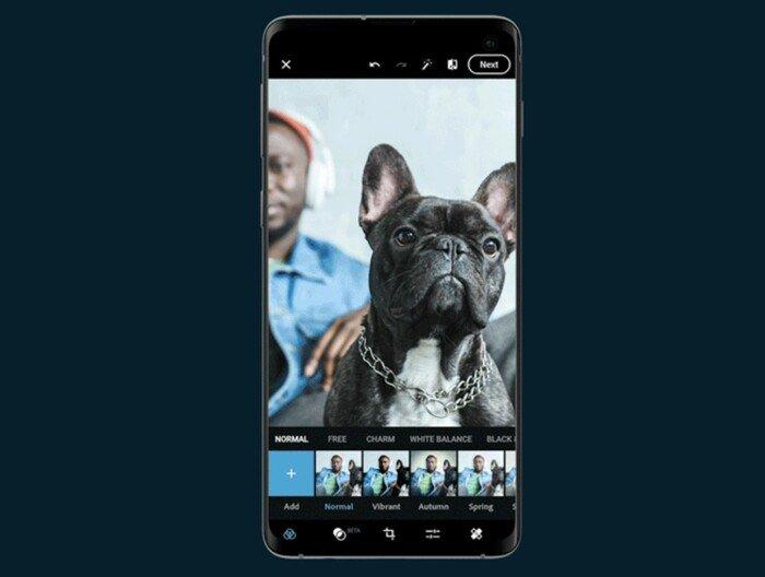 A screenshot of Adobe Photoshop Express app