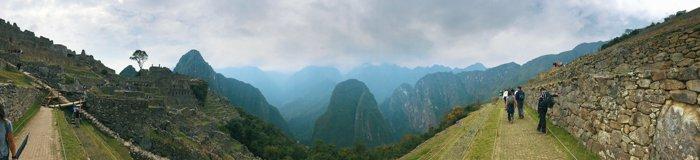 A panoramic landscape shot