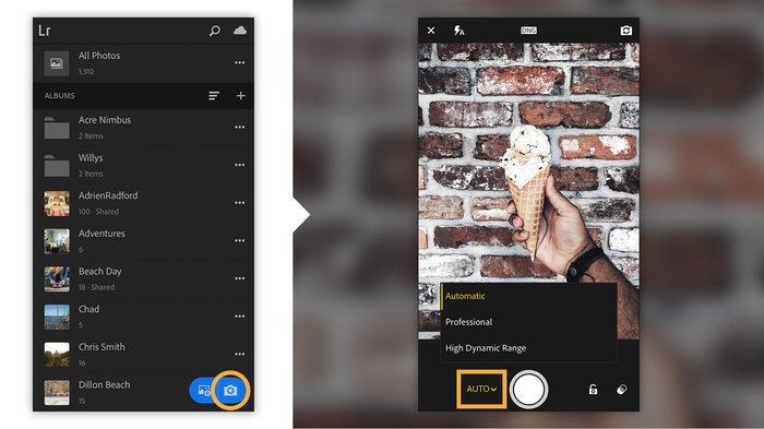 Adobe Lightroom for mobile screenshot