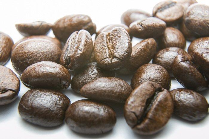 咖啡豆的宏观照片