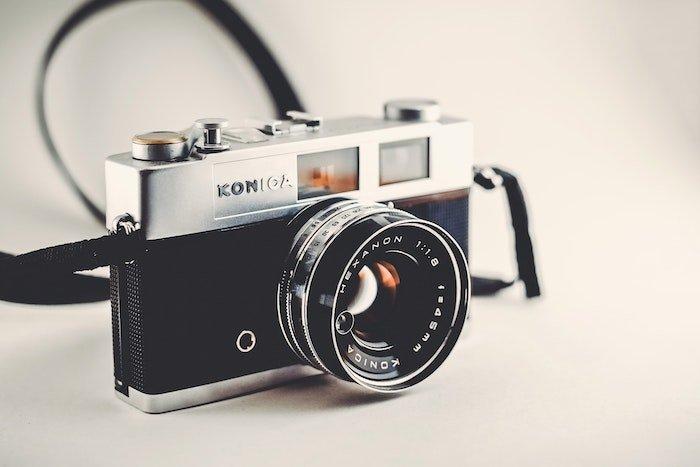 Photo of a film camera