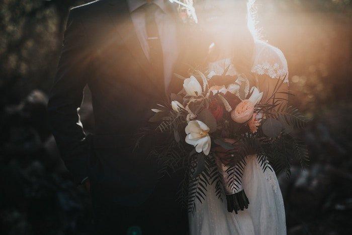 Wedding photo of a couple