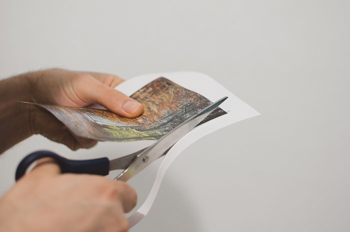 Photo of cutting out a photo