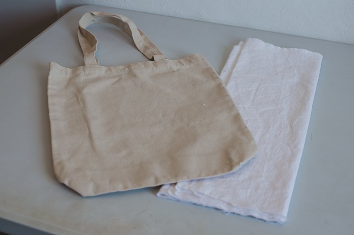Photo of a canvas bag on a table