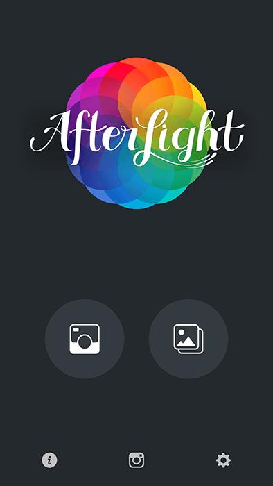 A screenshot of using Afterlight app