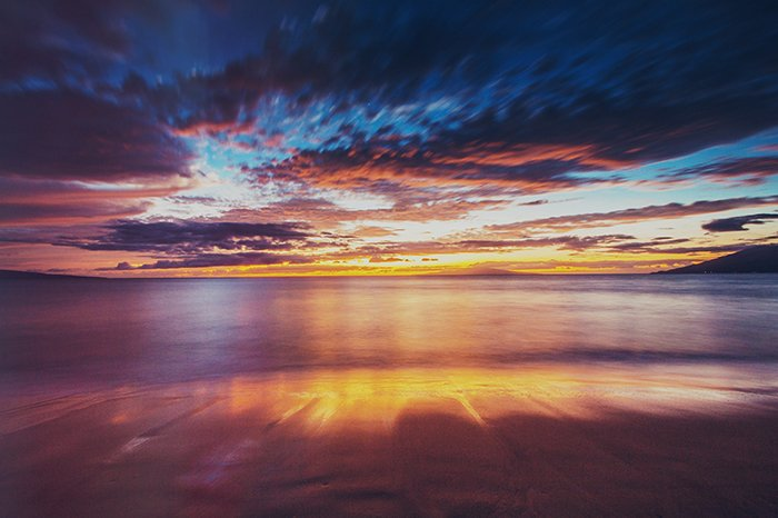 A stunning coastal landscape at sunset