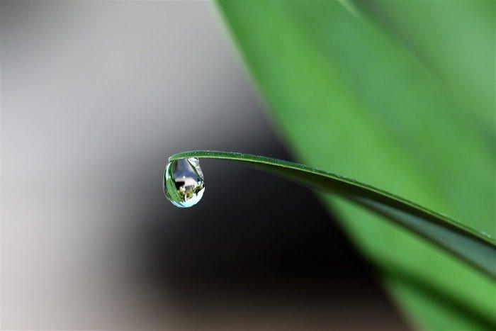 Macro photo of a waterdrop