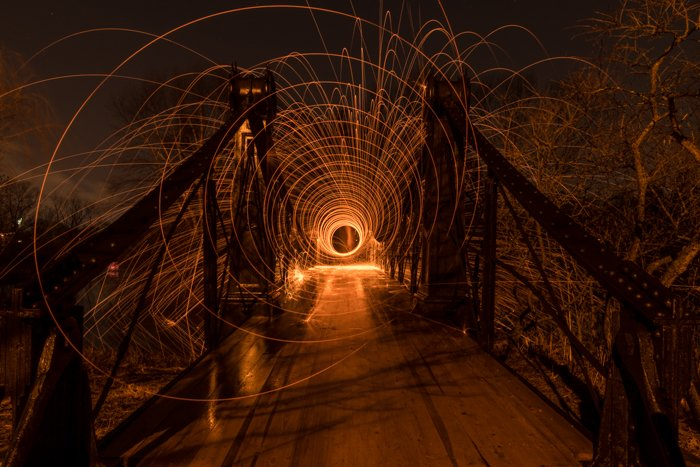 Experimental photo with light painting