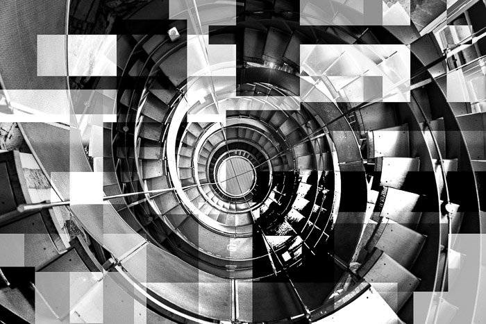 Experimental photo of a stairway