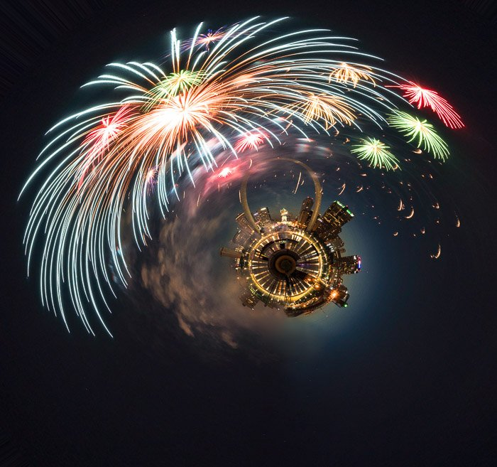 Experimental fireworks photo