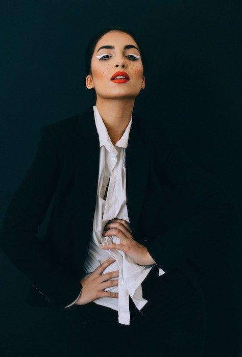 Portrait of a female fashion model