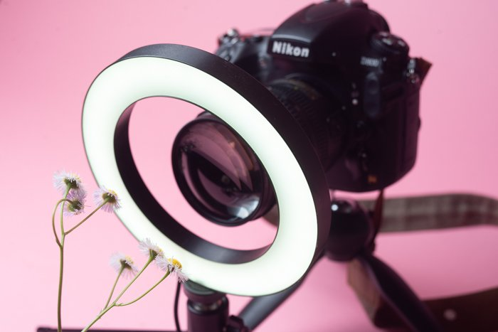 Photo of a Nikon camera with a filter
