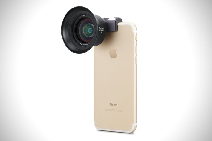 Exolens Wide Angle lens on an iPhone