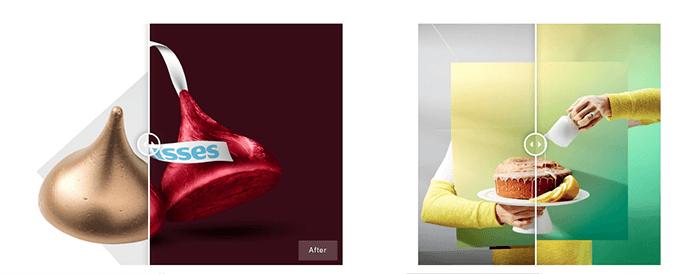 Screenshot of OMS Photo retouching website