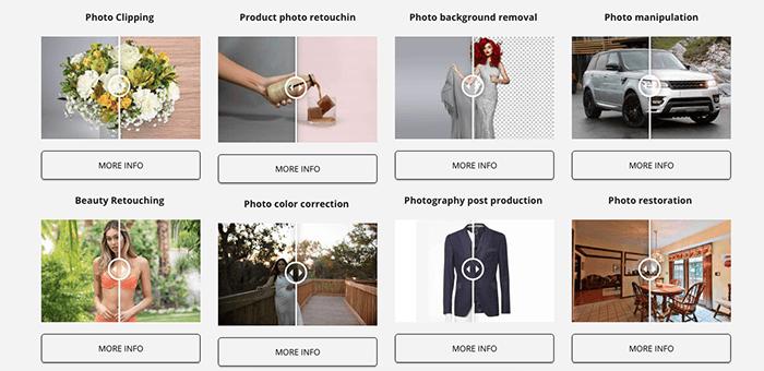 A screenshot from Genius Retouch website