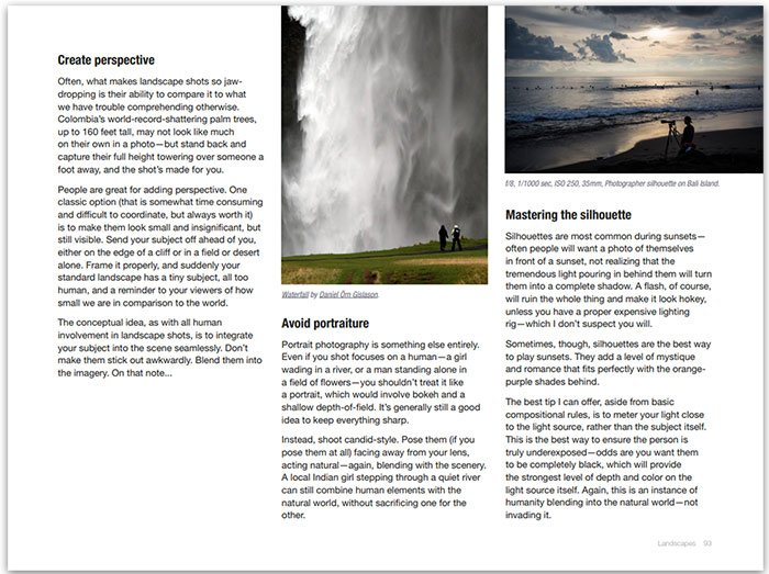 A screenshot of one of the pages from the Photo eBook