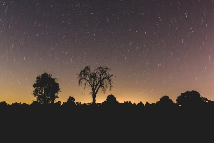 Time lapse landscape photography