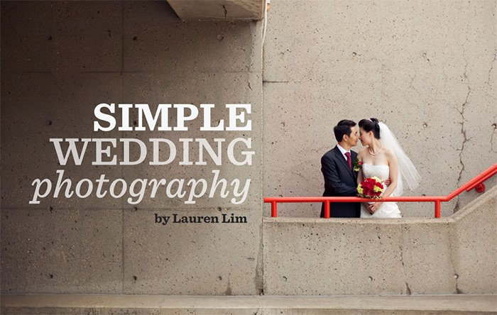 a screenshot of Simple Wedding Photography ebook by Lauren Lim