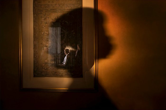 Photo of a shadow on a wall