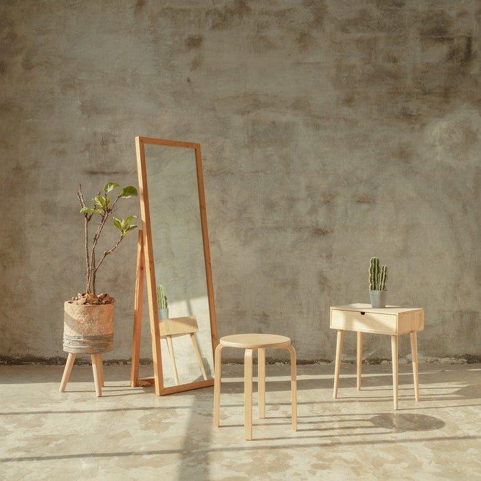 Modern wooden furniture indoors
